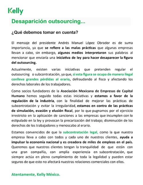 Outsourcing legal comunicado