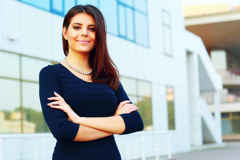 Portrait of a confident happy businesswoman-1