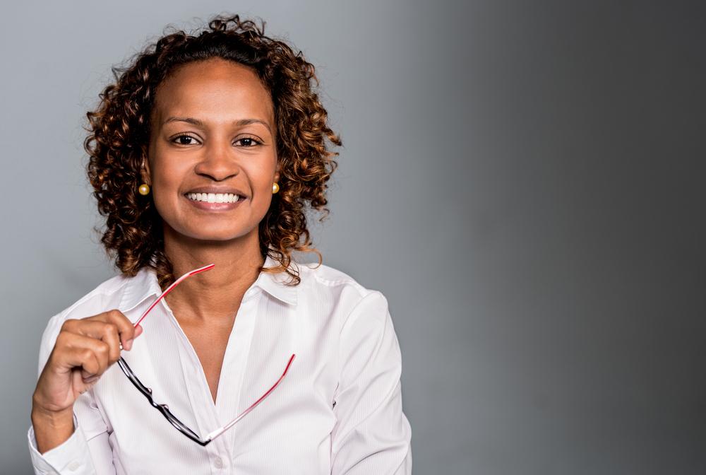 Portrait of a happy business woman smiling